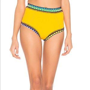 NEW! Kiini Ro High Waisted Bikini Bottom Yellow